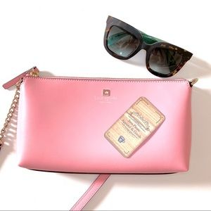 kate spade pink weller street declan crossbody new